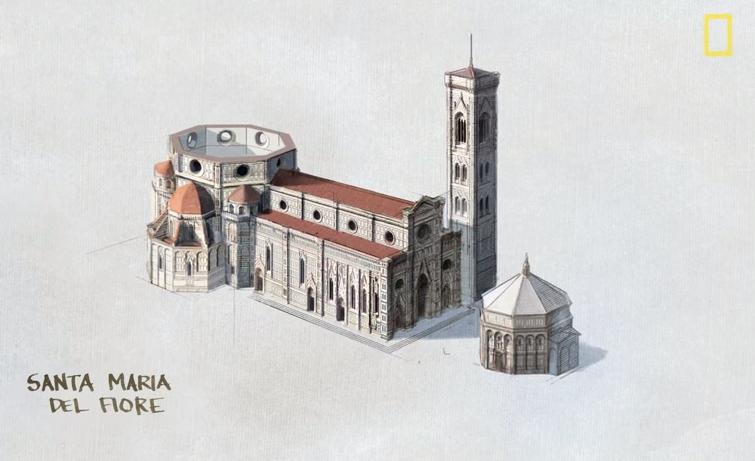 Como Brunelleschi construiu a cúpula da Catedral de Florença?