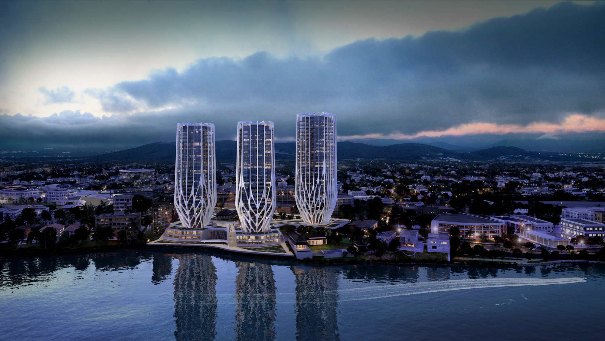 Zaha Hadid presenta torres 'floridas' en borde costero de Brisbane, © Zaha Hadid Architects