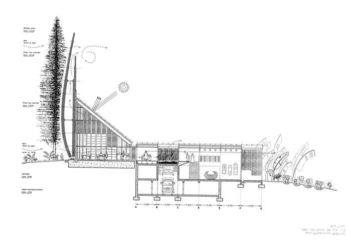 gallery of ad classics centre culturel jean marie tjibaou renzo piano 11. Black Bedroom Furniture Sets. Home Design Ideas