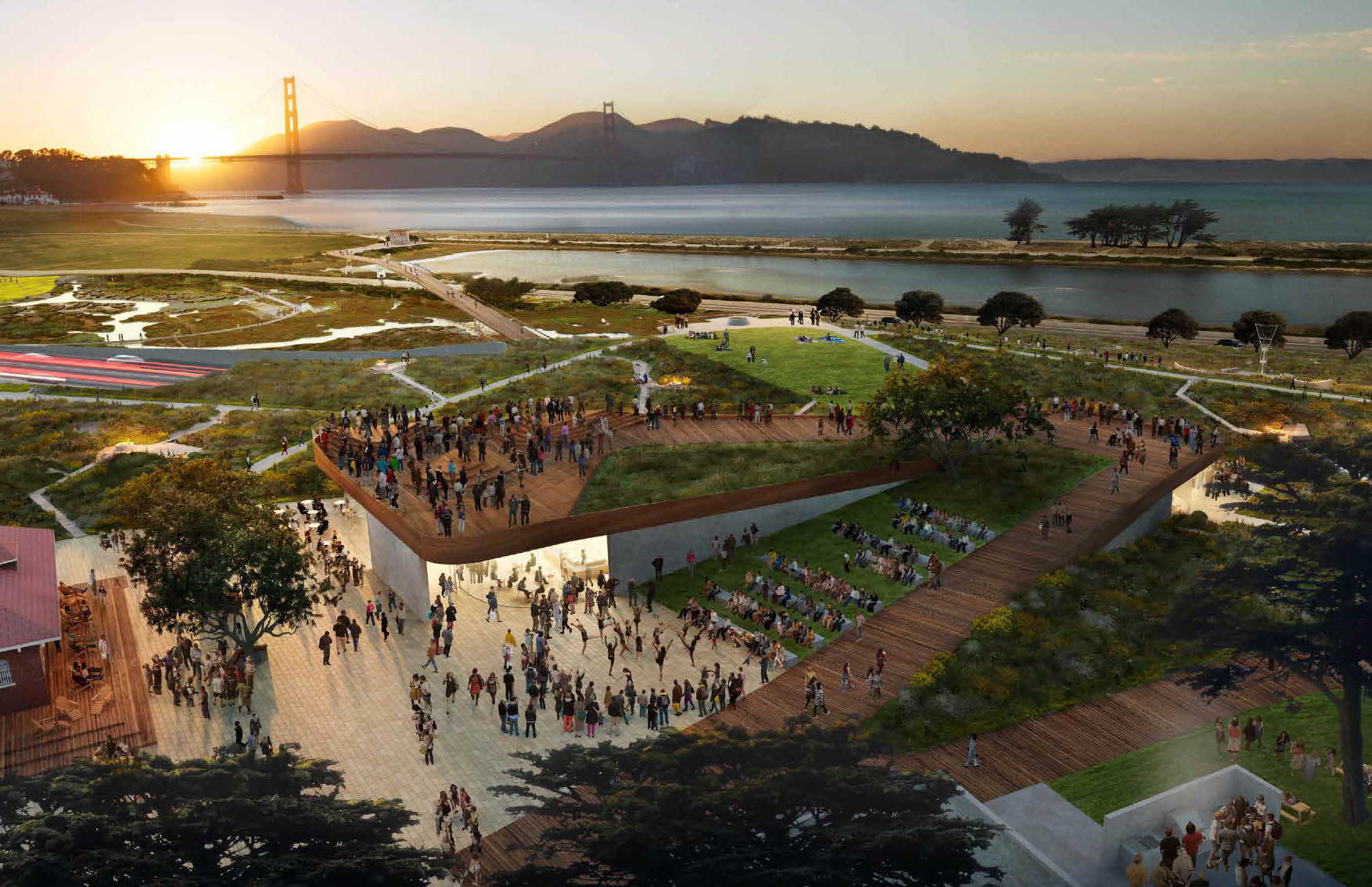 "Cinco propostas para ""Presidio Parklands"" em San Francisco, The Observation Post / CMG Landscape Architecture. Imagem © CMG Landscape Architecture Cortesia de Presidio Trust"