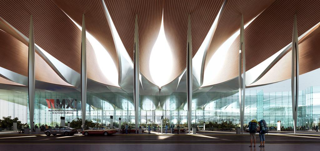 Proposta de Sordo Madaleno & Pascall+Watson para o Novo Aeroporto da Cidade do México,  © Sordo Madaleno, render por MIR