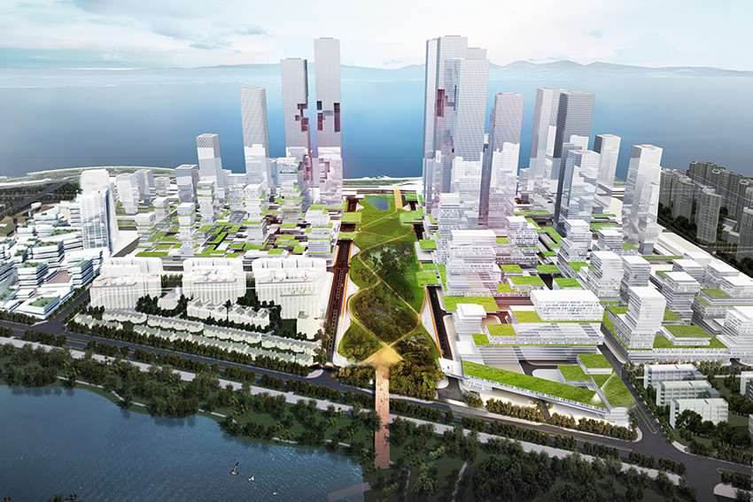 KAMJZ Reveals Proposal for Shenzhen Bay Super City Masterplan, Courtesy of KAMJZ Architects