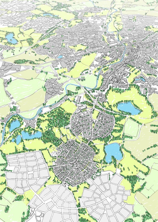 Richard Rogers Speaks Out Against Garden Cities Proposals, URBED's winning proposal for the Wolfson Economics Prize. Image Courtesy of URBED