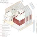 Axonométrica - detalhe. Imagem © b720 Arquitectos