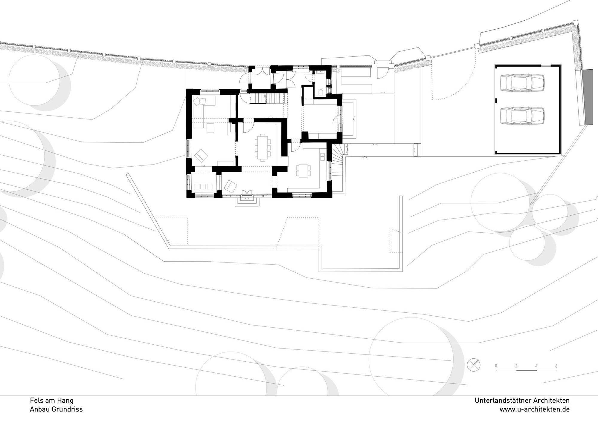 rock on a slope unterlandstttner architekten 16 19 floor plan - Floor Plan On Line