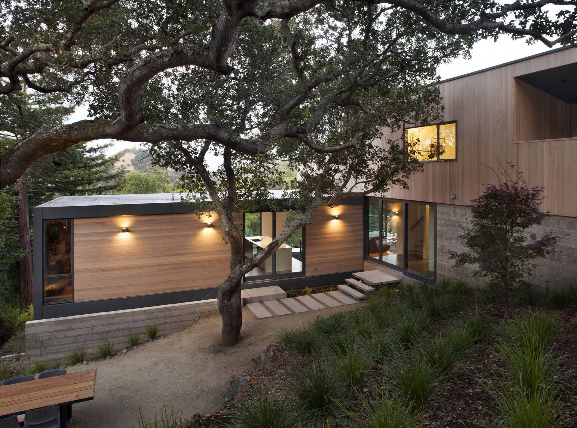 Gallery of hillside house shands studio 13 for Hillside house plans with a view