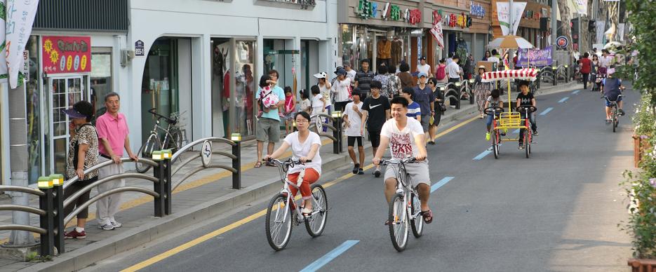 Um mês sem carros: a bem sucedida experiência da Coréia do Sul, Bairro de Haenggung-dong, Suwon. Fonte da imagem: ITDP