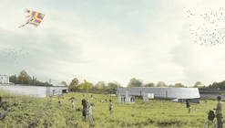Segundo Lugar en concurso de anteproyectos Parque Deportivo Villa Alemana / Chile