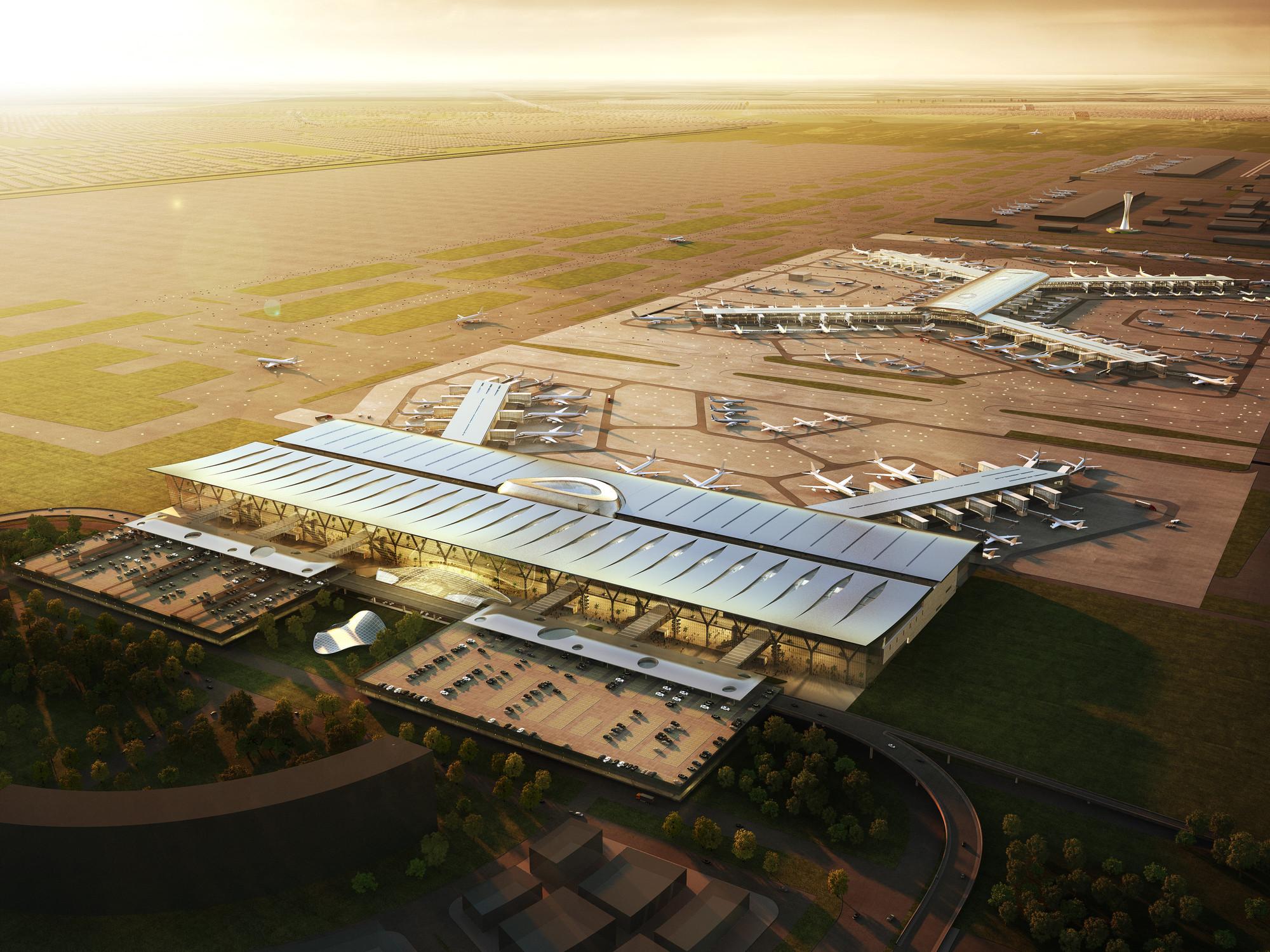 La dupla bgp arquitectura + Gensler y su proyecto para el nuevo aeropuerto de la Ciudad de México, © Icon