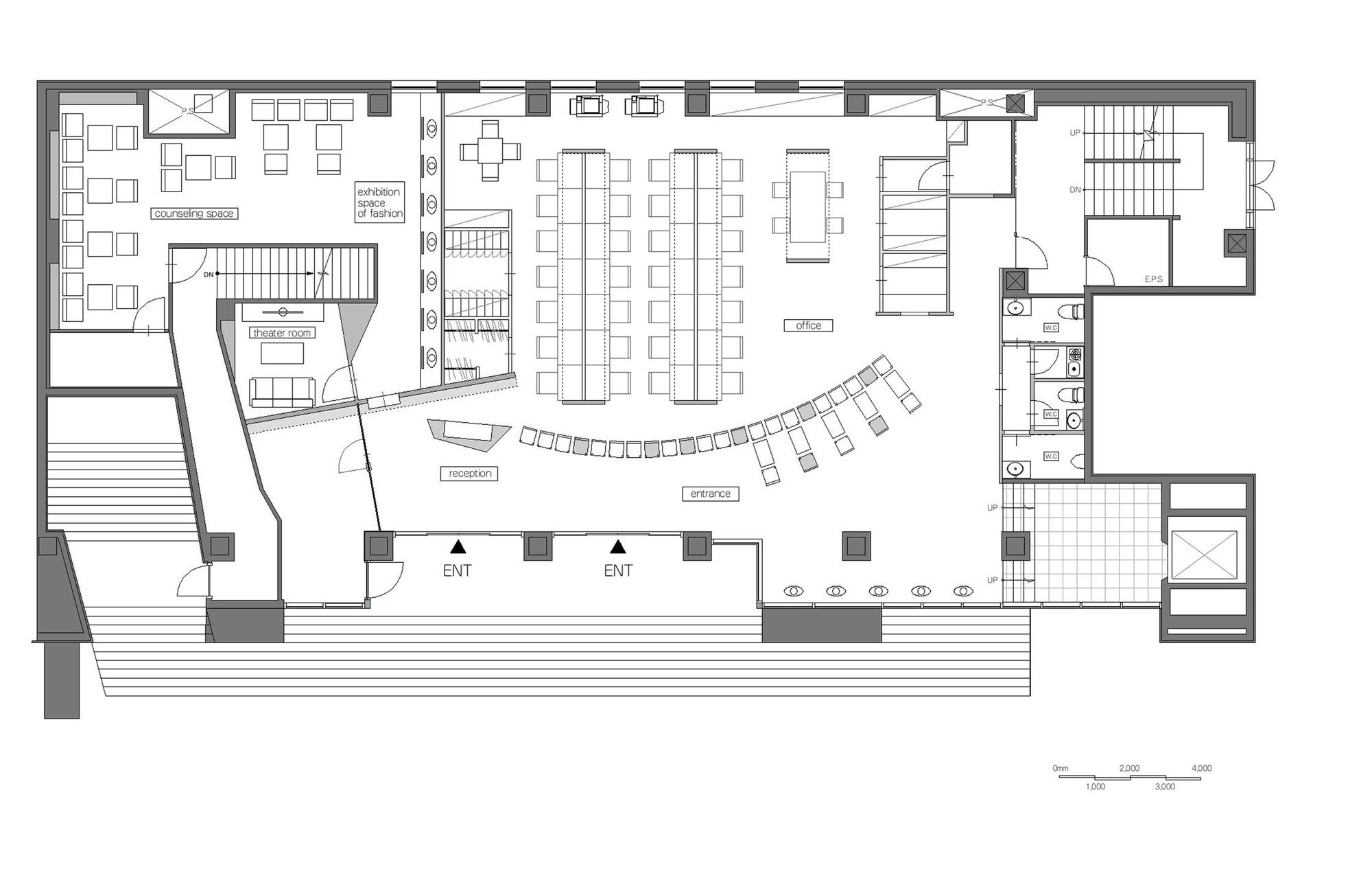 Gallery of Vantan Design Institute Osak eleven nine inteiror