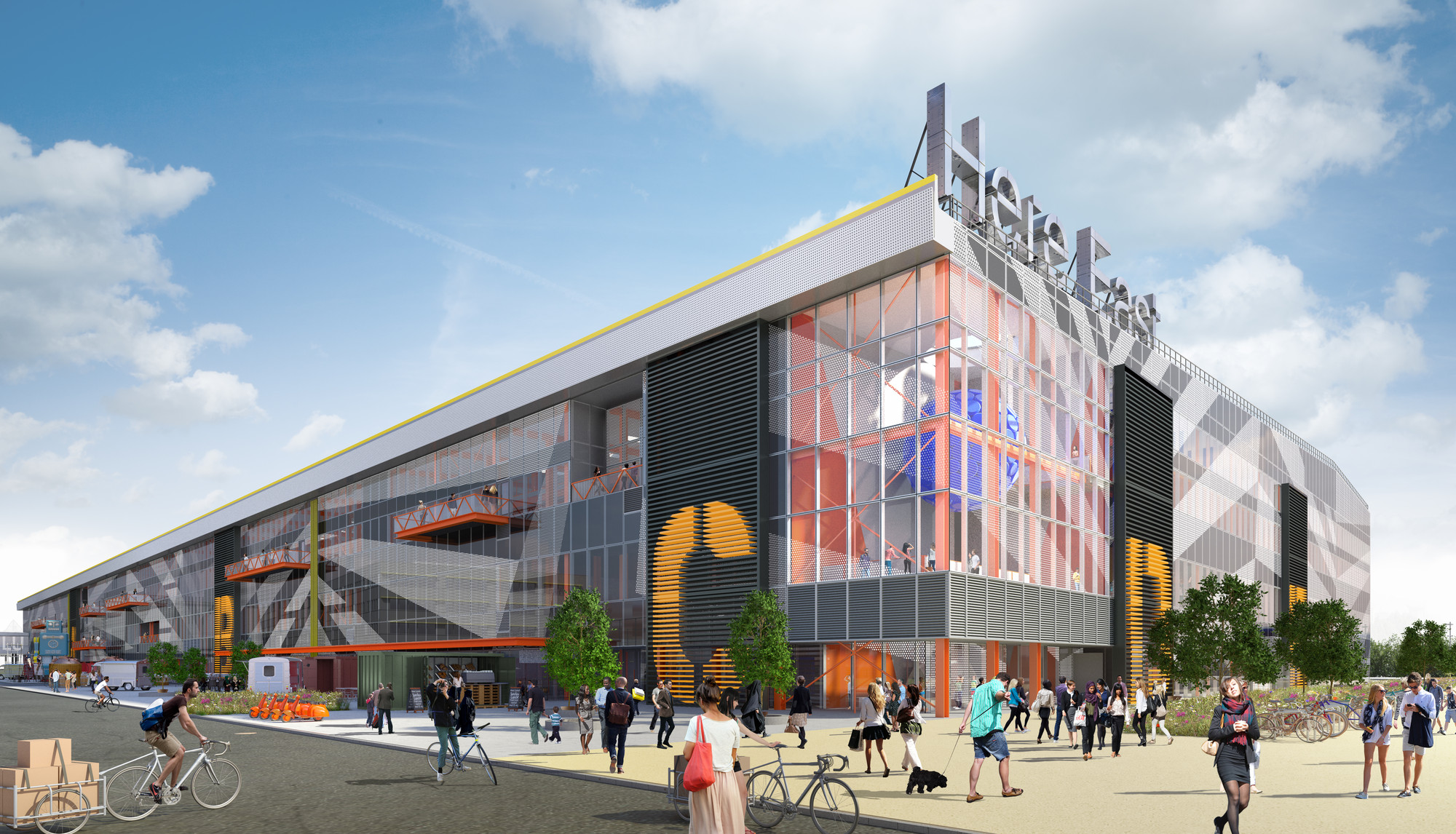 Hawkins\Brown Unveils Legacy Designs for London Olympic Broadcast Centre, © Hawkins\Brown