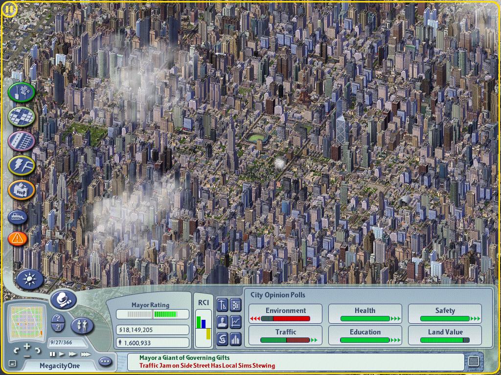 Como seria viver numa cidade de 100 milhões de habitantes? Uma projeção no SimCity 4, MegaCity One © Peter Richie, via Motherboard