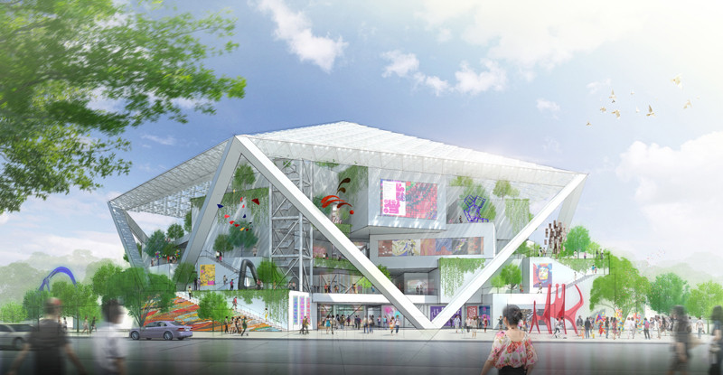 Shigeru Ban to Construct Tainan Museum of Fine Arts, Courtesy of Shigeru Ban Architects