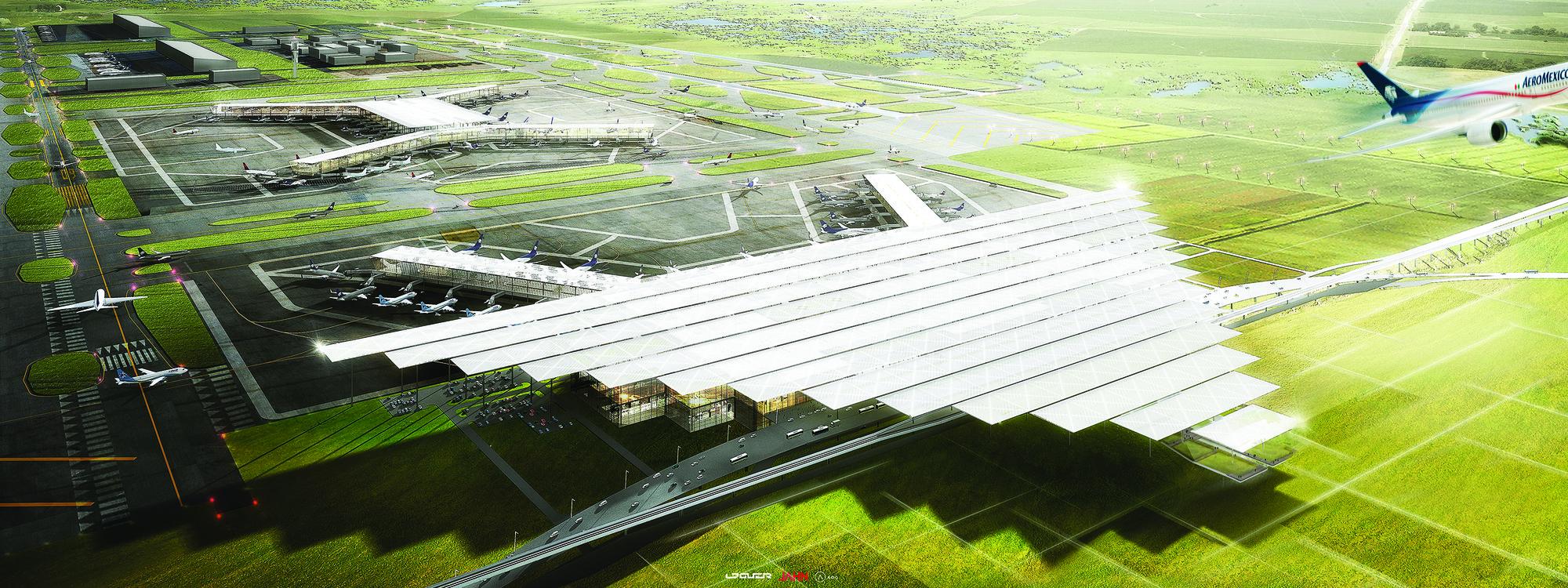 Propuesta del Nuevo Aeropuerto Internacional de la Ciudad de México del consorcio conformado por LOGUER, JAHN y ADG, Cortesía de LOGUER