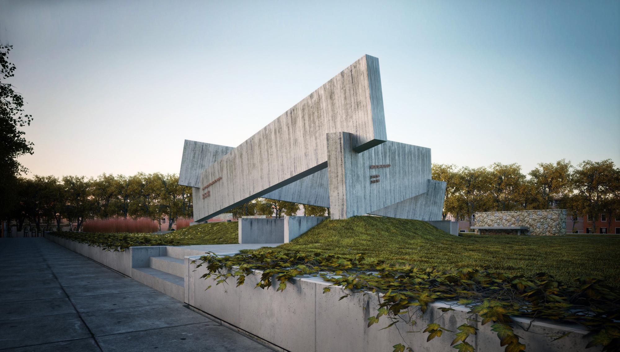 Primeira men o no concurso para o memorial dos detidos - Que es un porche en arquitectura ...