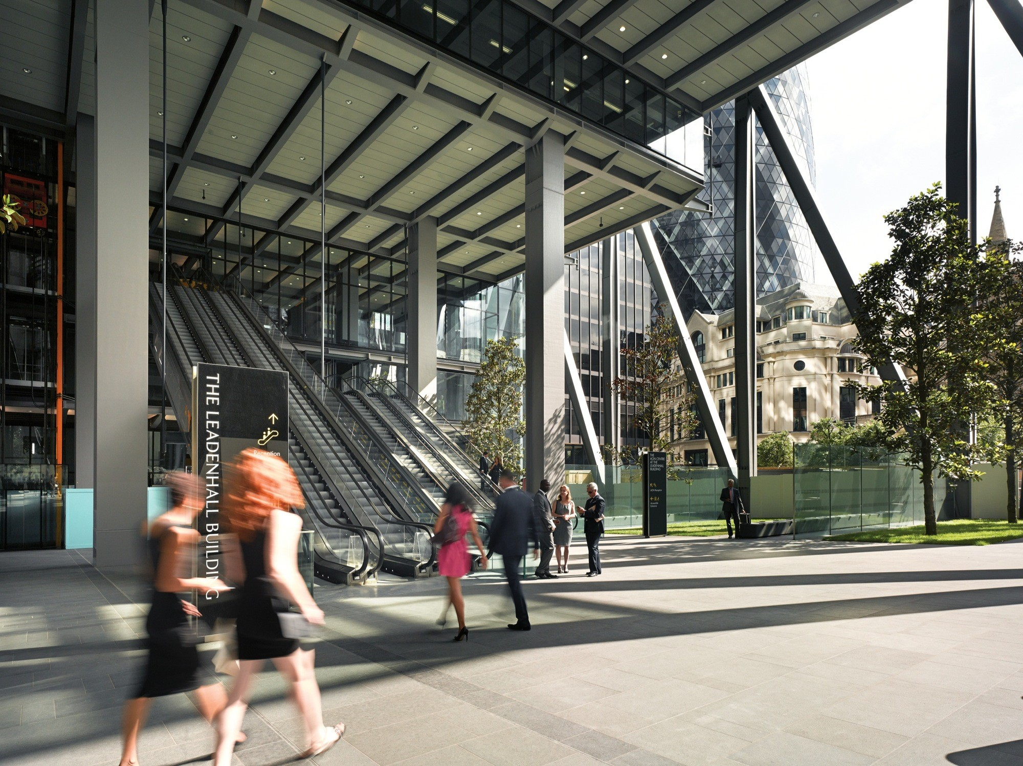 The eastern portion of the ground floor 'lobby' of the Leadenhall Building, as