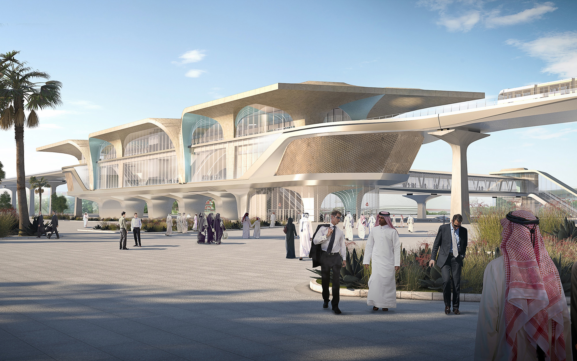 UNStudio Appointed to Create Identity for Qatar's New Metro Network, © Methanoia