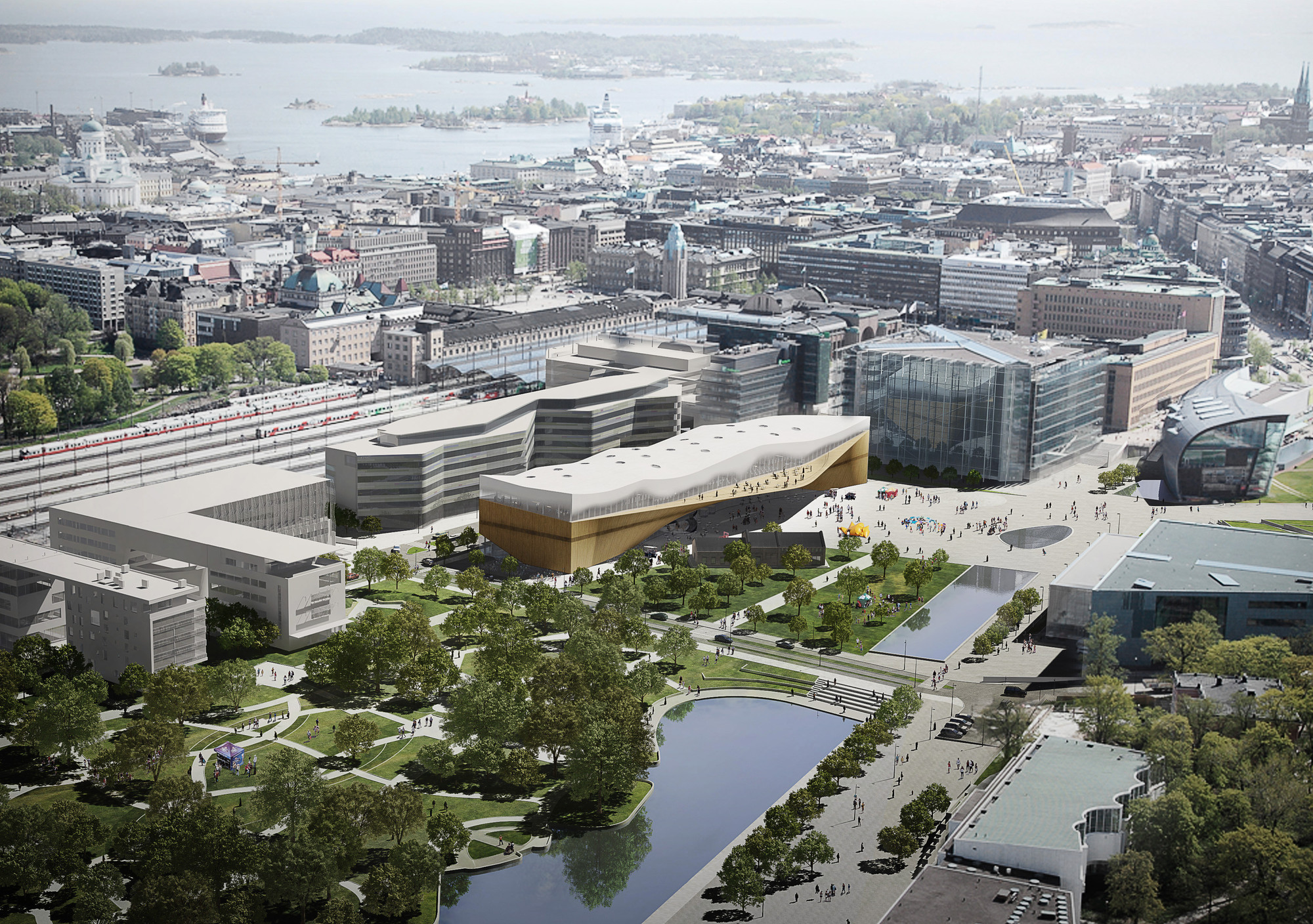 New Images Take You Inside ALA's Helsinki Central Library , Helsinki Central Library. Image © ALA Architects