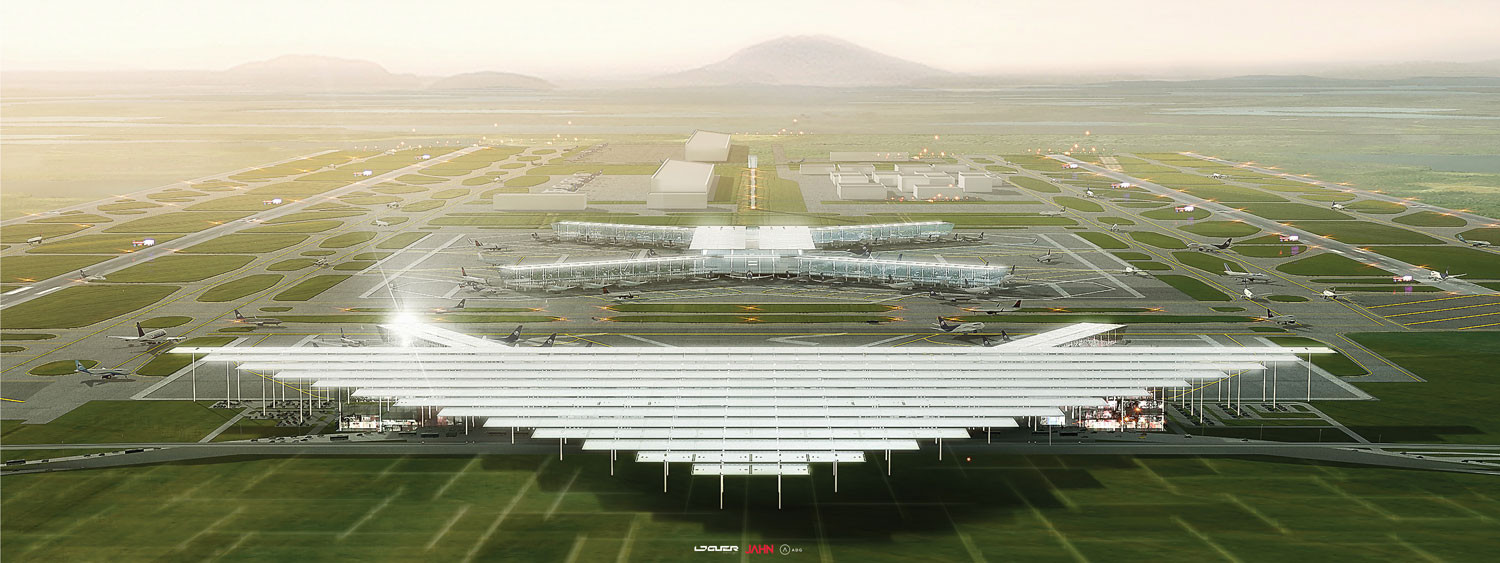 JAHN, LOGUER + ADG Presents Proposal for New Mexico City Airport, Courtesy of JAHN