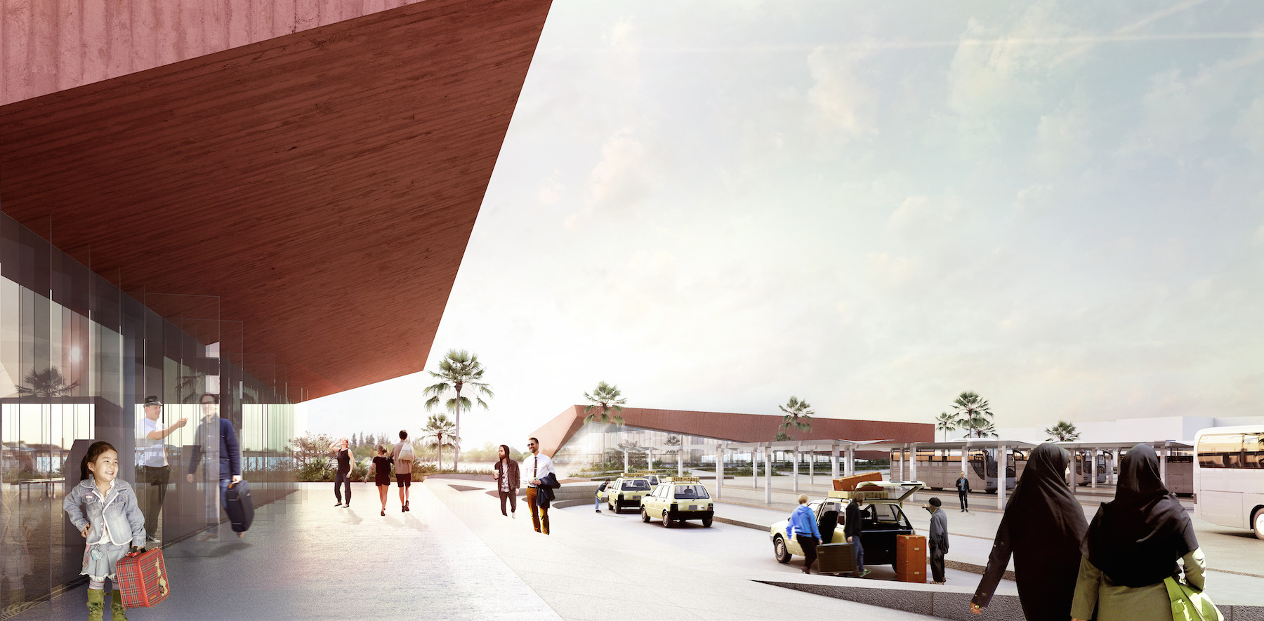 Narrowminded + BOM Propose New Central Bus Station for Marrakech, Courtesy of Narrowminded + BOM Architects