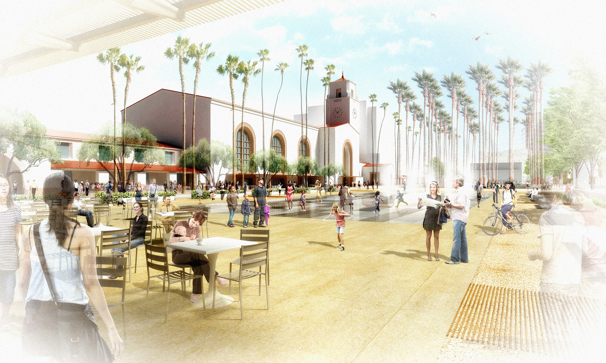 Grimshaw and gruen 39 s la union station masterplan gains for Open space interior design