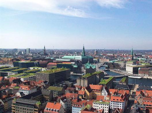 Um teto verde a cada edifício: A política de Copenhague para eliminar as emissões de carbono até 2025, Fonte: Inhabitat