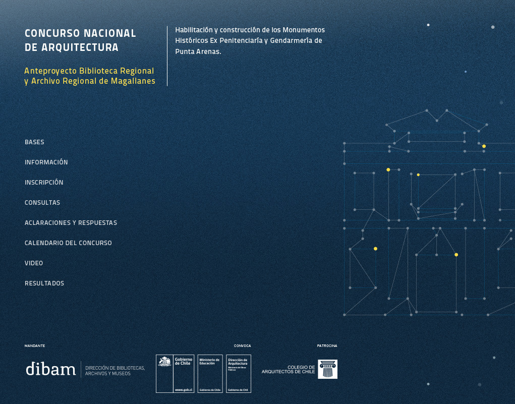 Concurso nacional de arquitectura: habilitación y construcción del Archivo y Biblioteca Regional de Punta Arenas, Cortesia de Dirección de Arquitectura MOP [Región de Magallanes y la Antártica Chilena]
