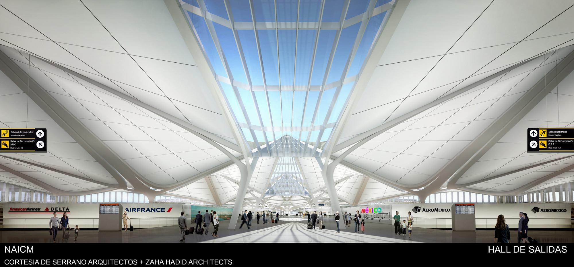 Galer a de serrano arquitectos zaha hadid architects for Puerta 6 aeropuerto ciudad mexico