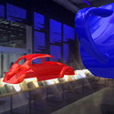The VW Beetle Shell, 1967, and The Utah Teapot, 1975, Ivan Sutherland and Martin Newell. Image Courtesy of Ozel Office
