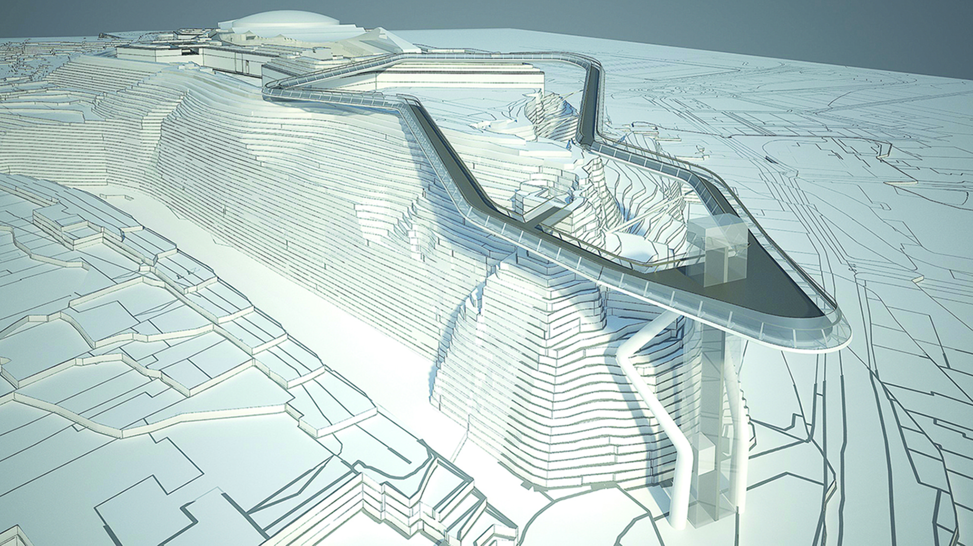 HOK Selected for Redevelopment of St Helier's Fort Regent, Courtesy of HOK