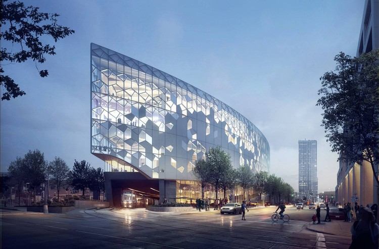 Calgary's New Central Library and Library Plaza / Snøhetta + DIALOG, © MIR and Snøhetta
