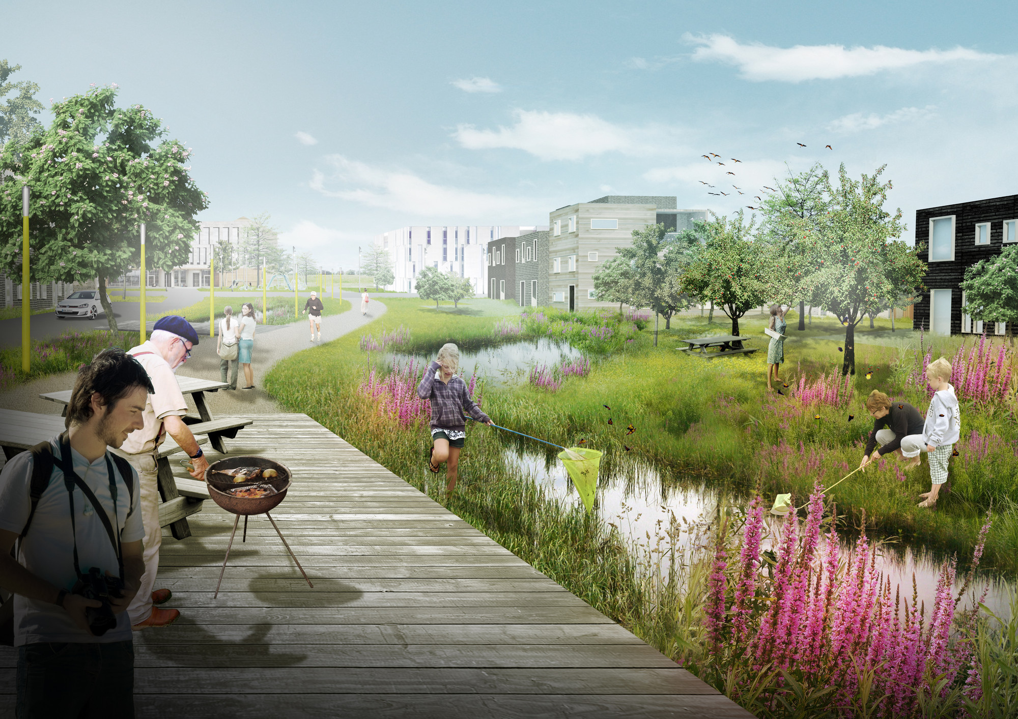 plans revealed for denmark s delta district in vinge archdaily