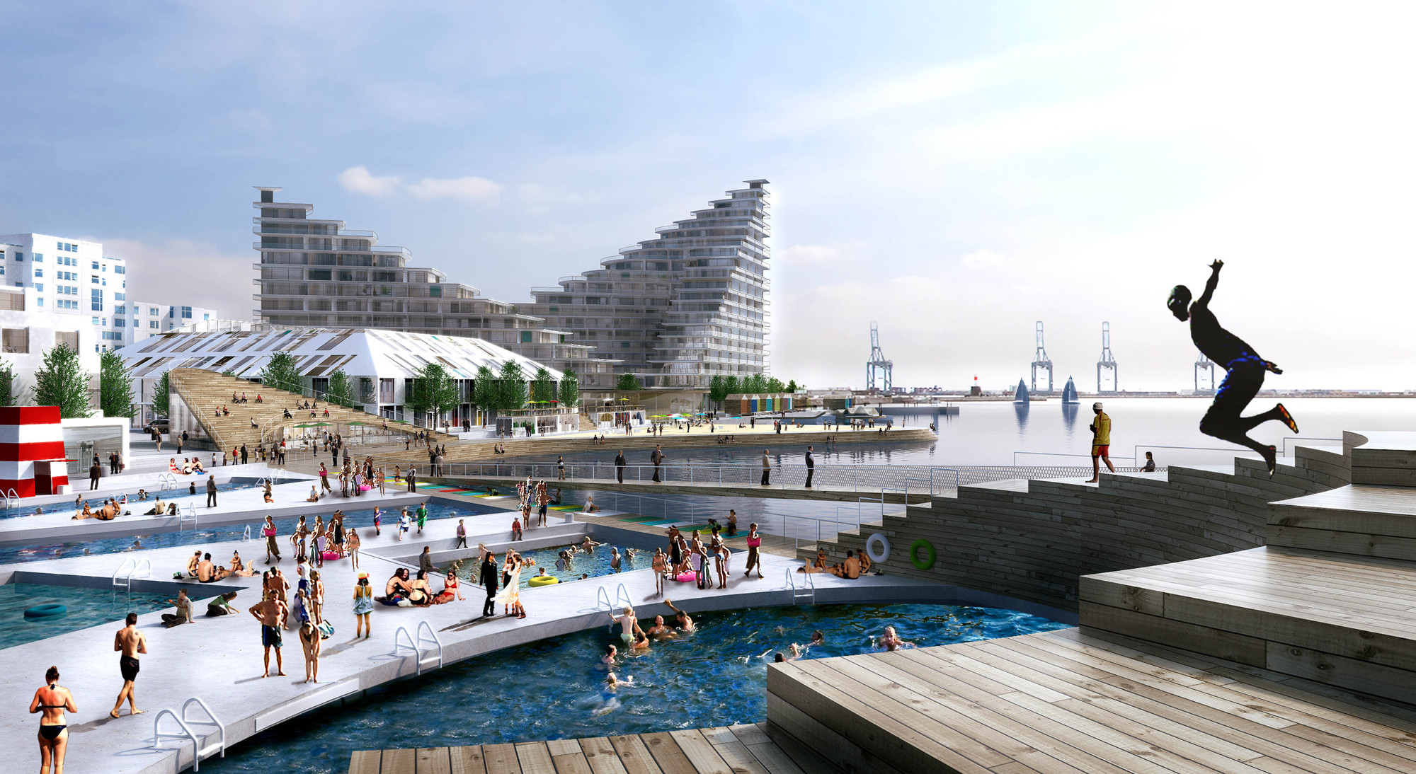 New BIG-Designed Neighborhood to Activate Aarhus' Waterfront, Courtesy of BIG