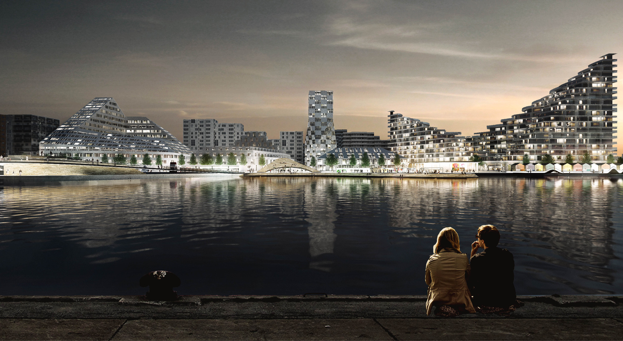 New Big Designed Neighborhood To Activate Aarhus Waterfront Archdaily