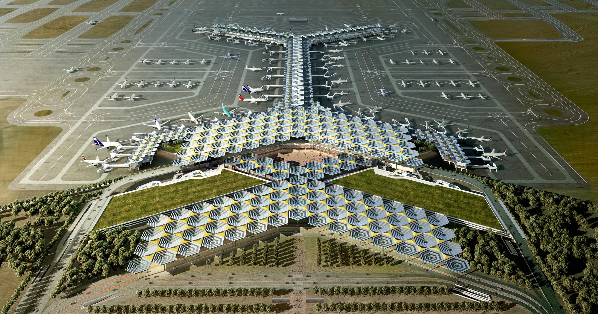 Galer a de propuesta de legorogers para el dise o del for Puerta 6 aeropuerto ciudad mexico
