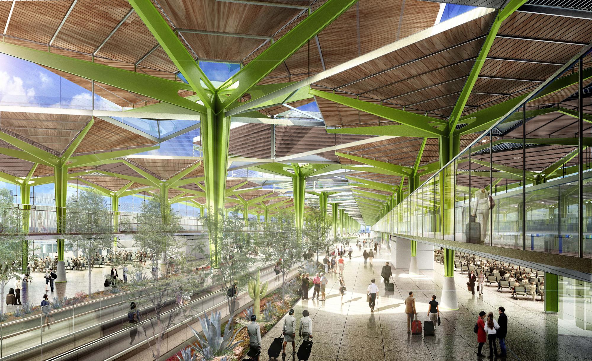 Propuesta de LegoRogers para el diseño del Nuevo Aeropuerto Internacional de la Ciudad de México, Cortesia de © LegoRogers + Stantec