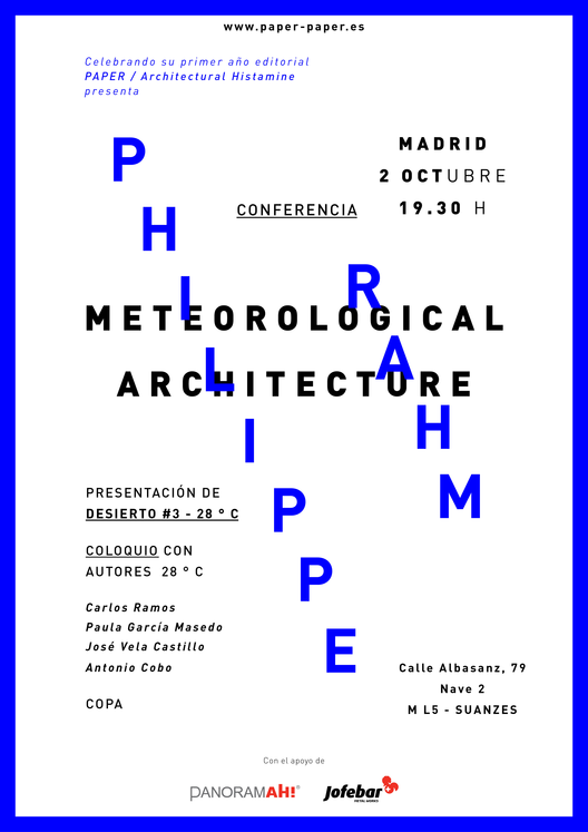 "Conferencia ""Meteorological Architecture"" / Madrid, España"
