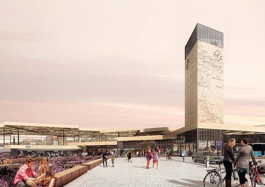 Mecanoo selecionado para remodelar uma estação de trem nos Países Baixos, © Mecanoo