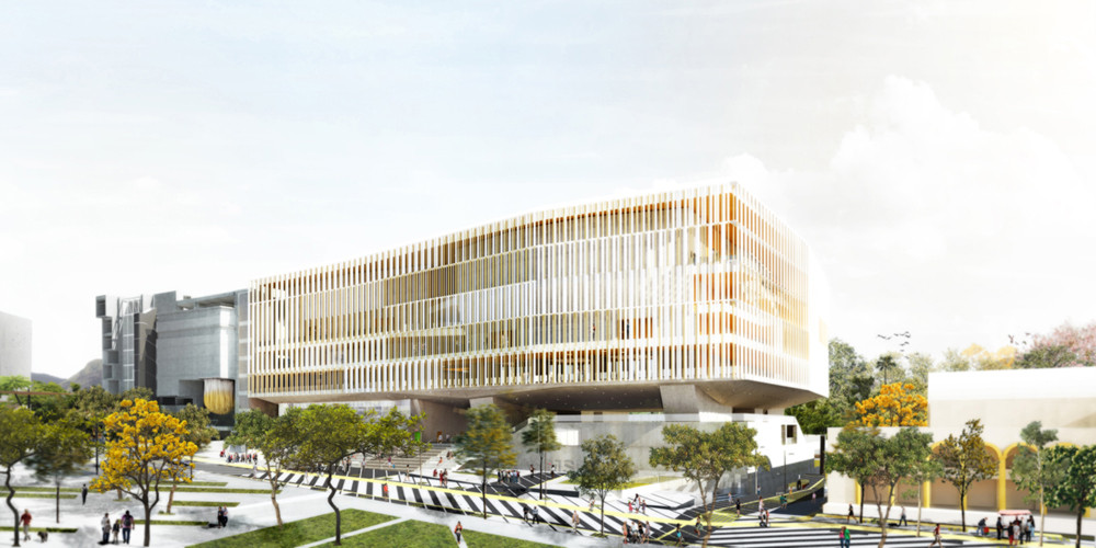 adjkm's Releases Final Design for Caracas Symphony, CASMSB - View from Boulevard. Image Courtesy of adjkm