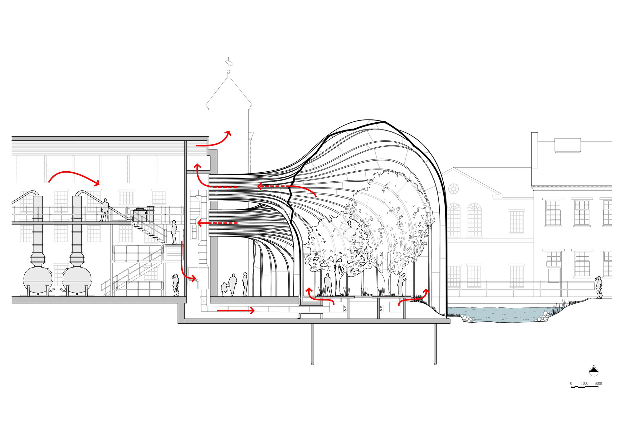 House Layout Design Maker Bombay Sapphire Distillery Heatherwick Studio Archdaily