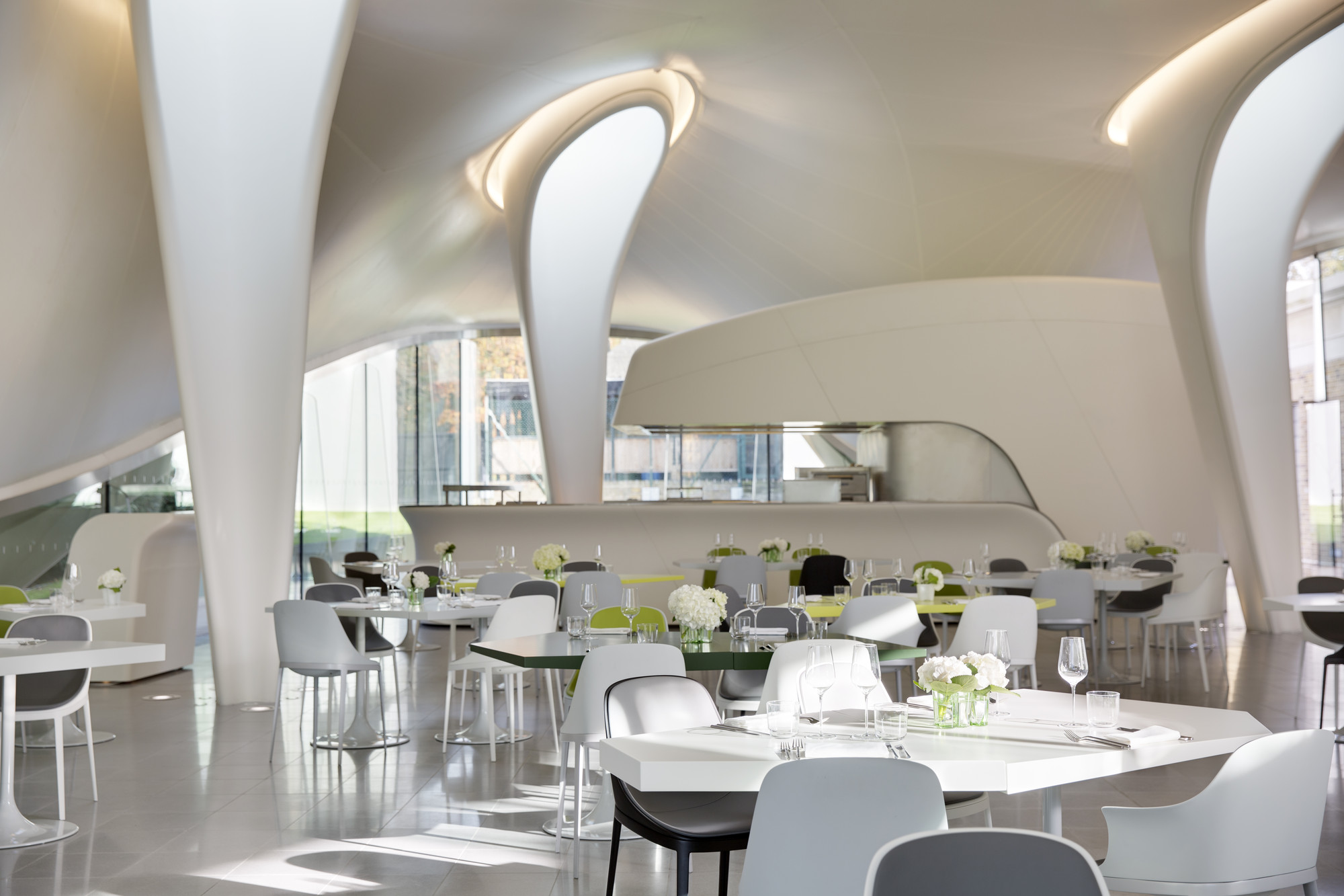 Restaurant Bar In Another Space The Magazine London Zaha Hadid Architects