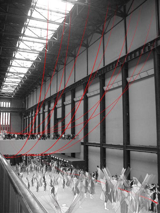 Gia Wolff transforma o Tate Modern através de uma intervenção com cordas, © Gia Wolff