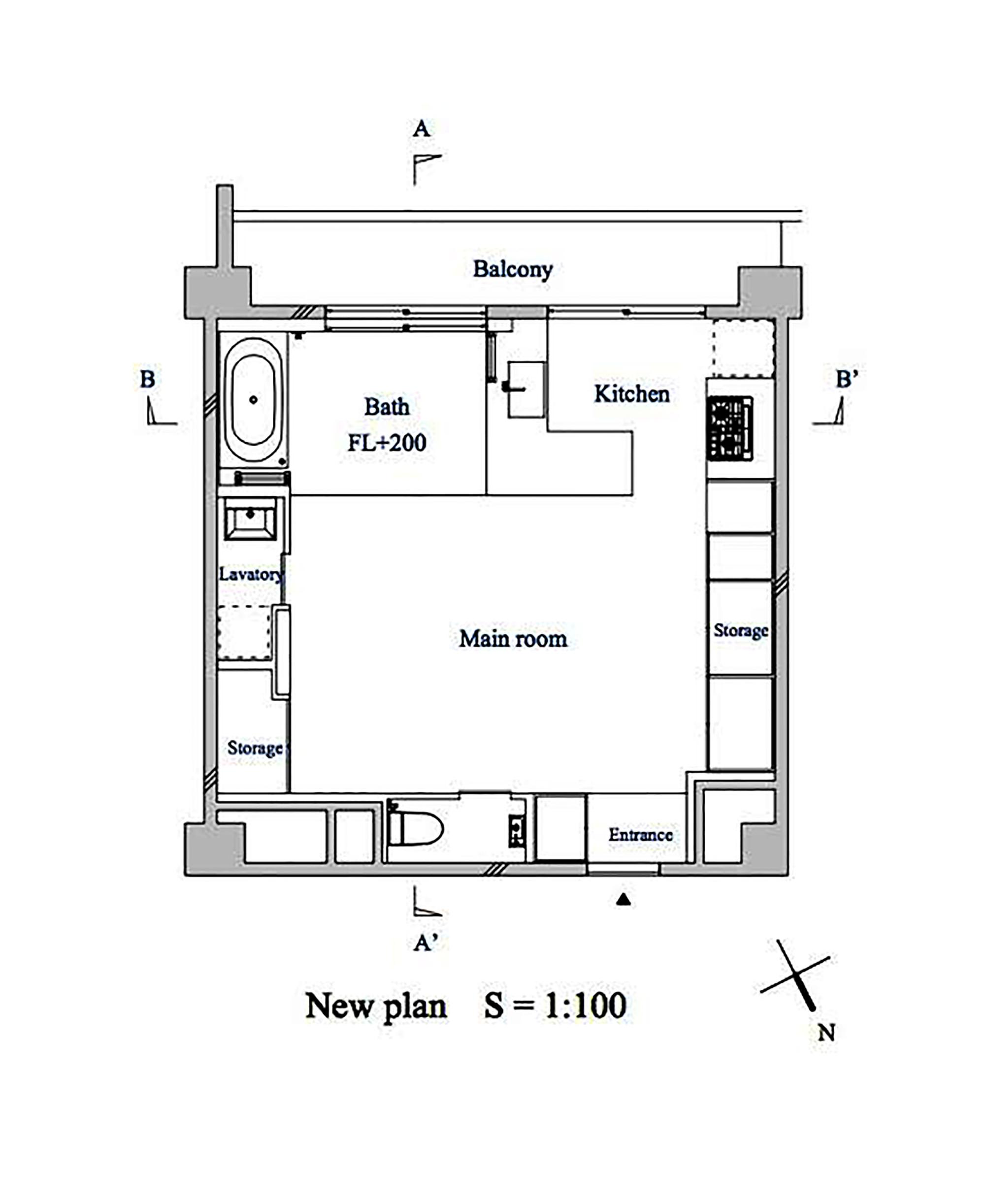 Bath Kitchen House,New Floor Plan