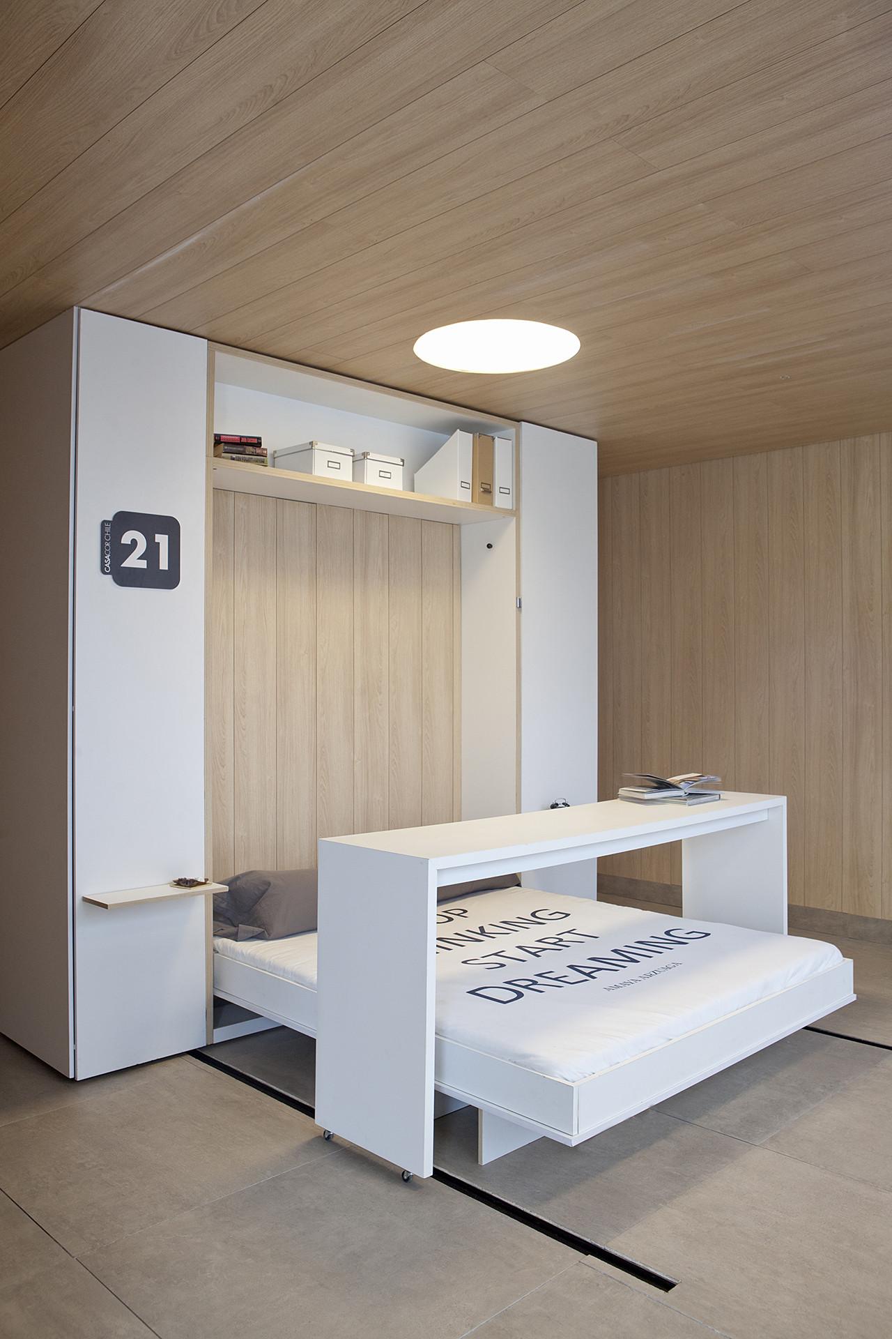 'Vivir con lo esencial': soluciones desplegables en 6 m2