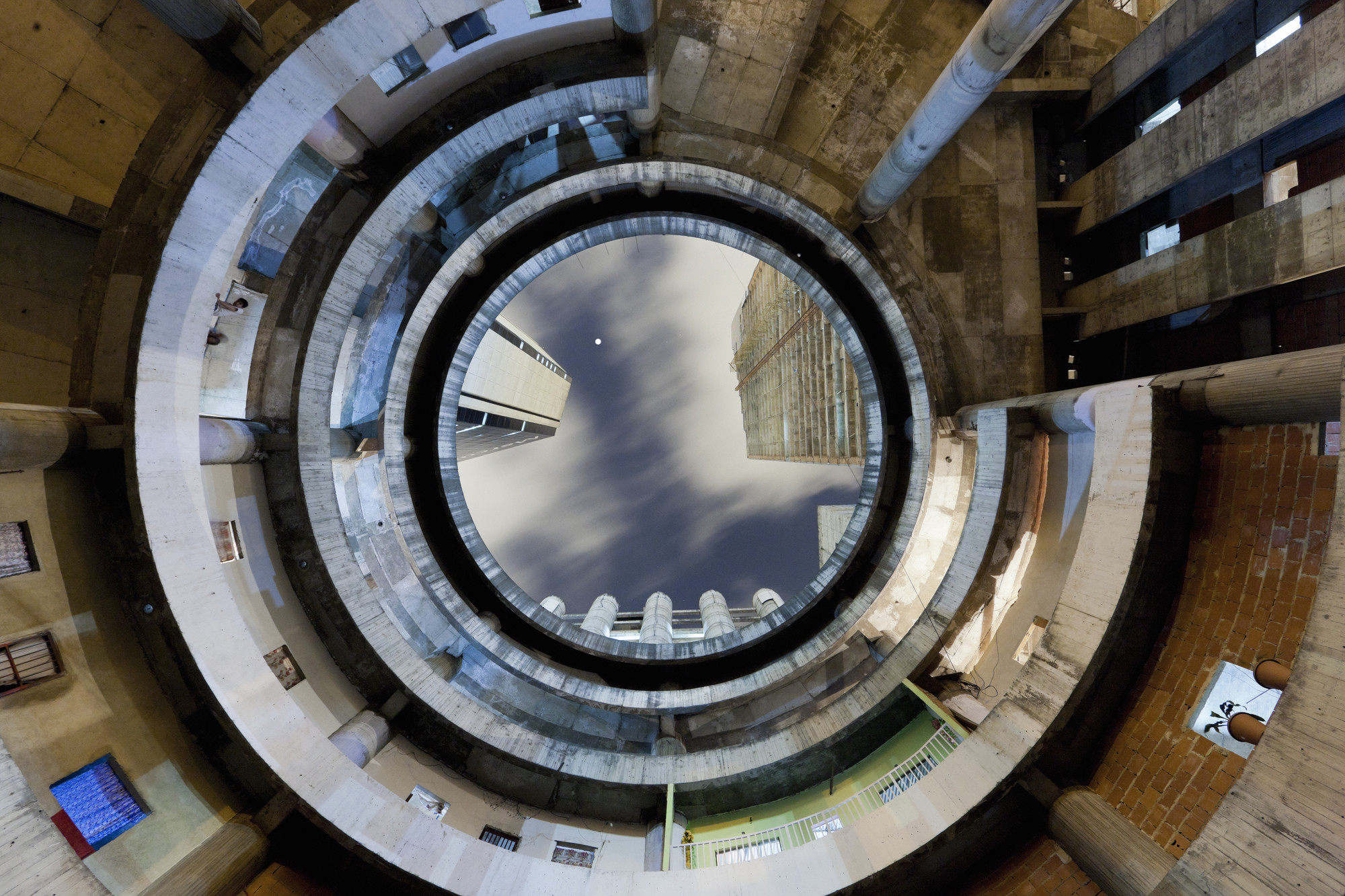 Constructing Worlds: Photography and Architecture in the Modern Age , 1. Iwan Baan Torre David #2, 2011 Image courtesy of the artist and Perry Rubenstein Gallery, Los Angeles. Image Courtesy of Barbican Art Gallery