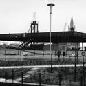 Erguendo a cobertura, April 5, 1967. Imagem © Archiv Neue Nationalgalerie, Nationalgalerie, Staatliche Museen zu Berlin