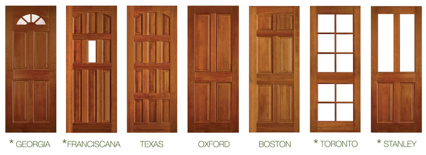 Materiales puertas de madera maciza plataforma arquitectura for Modelos de puerta de madera para casa