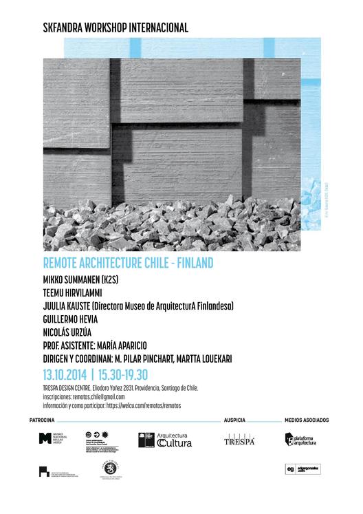 Eventos Colaterales en 'Remotos: maratón de arquitectura Chile-Finlandia' / ¡Sorteamos cupos!