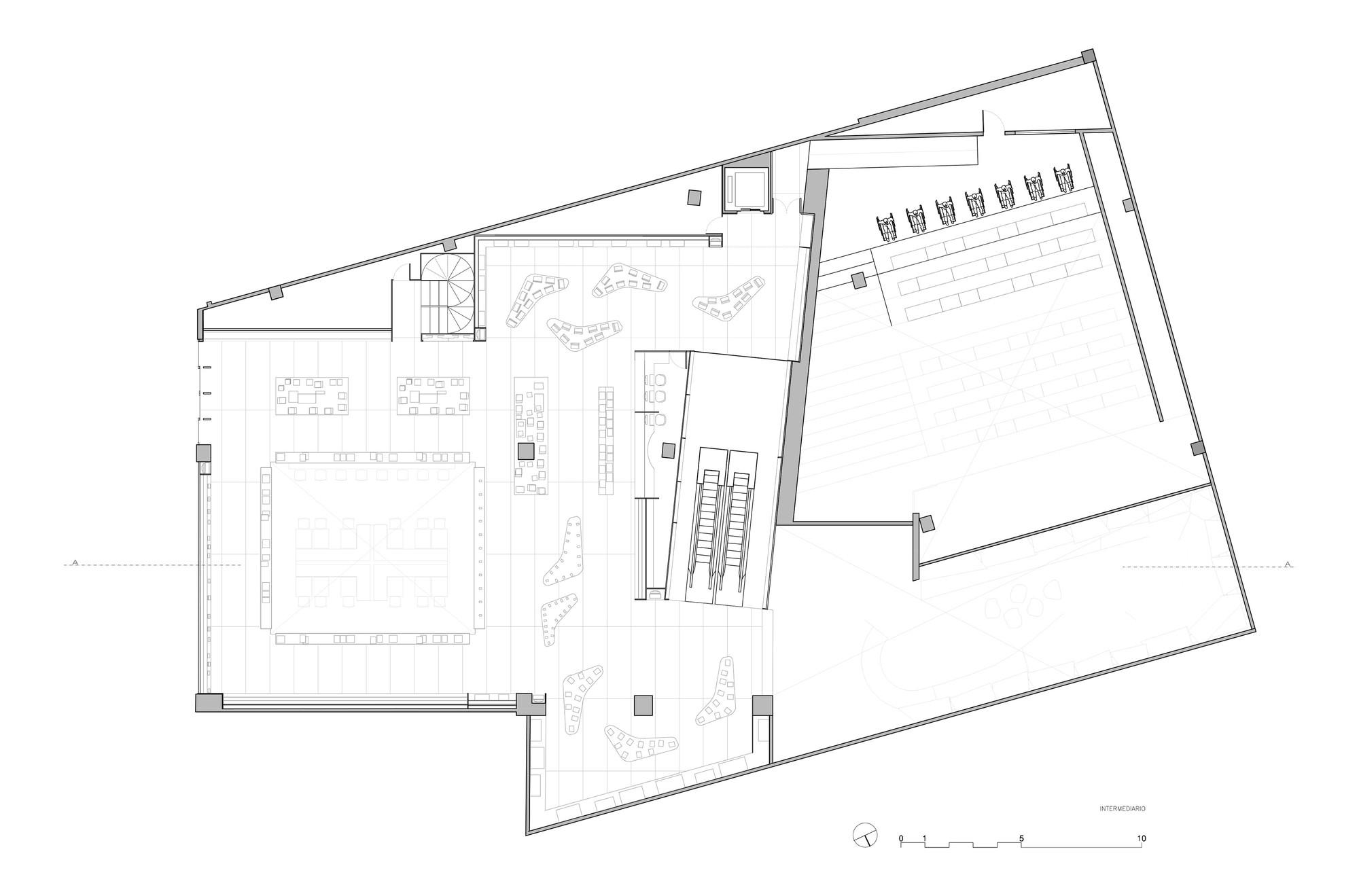 Triangular Floor Plan Galeria De Livraria Saraiva Studio Arthur Casas 22