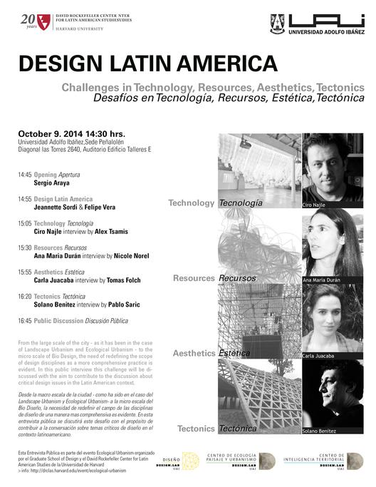 Design Latin America: desafíos en Tecnología, Recursos, Estética y Tectónica
